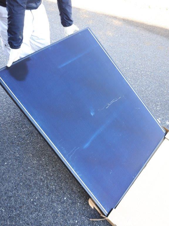 ソーラーパネルの施工前