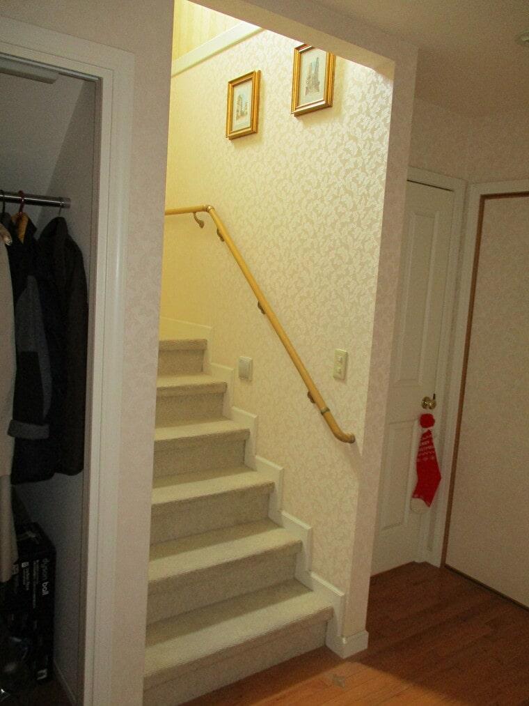 階段部分の施工前