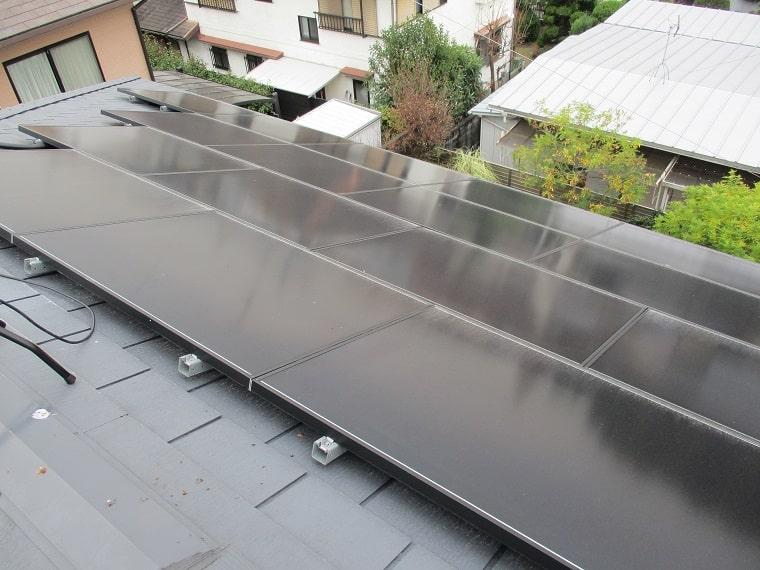 ソーラーパネルの施工後