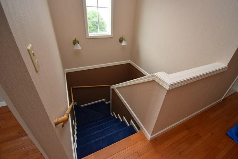 階段部分の施工後