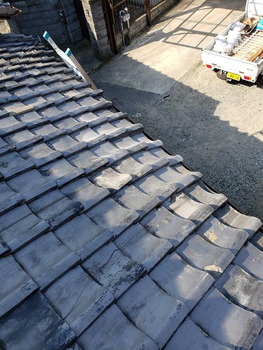 瓦屋根の施工後